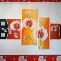 Модульная картина Орхидея,холст,масло,2014 г. Продана.