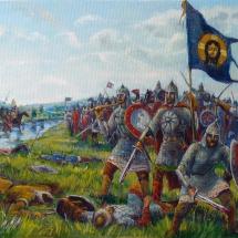 Бой Русичей, 50х30, холст,масло,2014 г. В частной коллекции.