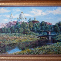 Пейзаж Знаменский собор,70х50,холст,масло,2006 г.Продана