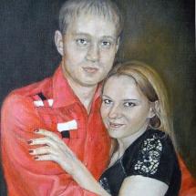 Парный портрет маслом,50х60,холст,масло