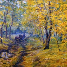 Пейзаж Осенний лес,60х40,холст,масло,2005 г. Продана