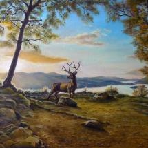 Пейзаж Утро в горах,80х50, холст,масло,2016 г. ц.22000р.