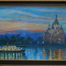 Пейзаж Вечерний Нижний Новгород,70х40,холст,масло,2007 г. Продана
