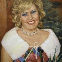 Портрет маслом Ирина,50х60,холст,масло.