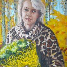 Портрет маслом Осень,50х60,холст,масло