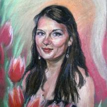 Портрет девушки,30х40,пастель