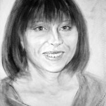Портрет Инна ,30х40,сухая кисть