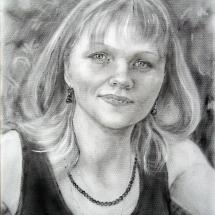 Портрет Ирина,30х40,сухая кисть