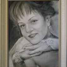 Портрет Невеста,30х40, сухая кисть