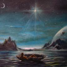 Рождение звезды,50х40,холст,масло,2015 г. 5000 р.