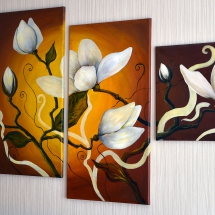 Цветение,холст, масло,2013г. В частной коллекции.