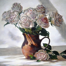 Натюрморт Розы в кувшине,50х50,холст,масло,2015 г.ц.12000 р.