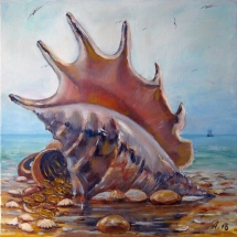 интерьерная картина Штиль, 50х50, холст,масло,2016 г. ц.9000 р.
