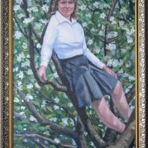 портрет Весна ,холст,масло,50х70,2017 г.