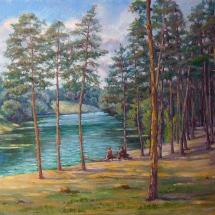 Пейзаж Суворовский пляж , холст, масло, 50х40,2017г, ц.8000 р.
