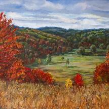 Пейзаж Осень в Полянском, 65х45, холст,масло,2009 г. ц.12500 руб.