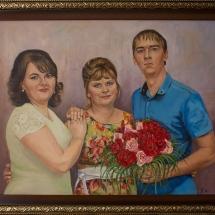 Семейный портрет, холст,масло, 90х70,2018 г.