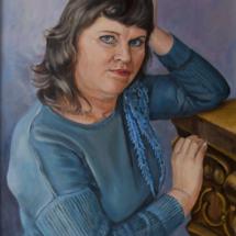 Портрет Анны, холст,масло, 50х70,2019 г.