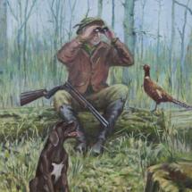 Каждый охотник желает знать ... холст,масло,30х40,2020 год