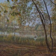 Картина Теплый октябрь, холст,масло,50х35,2020 г.