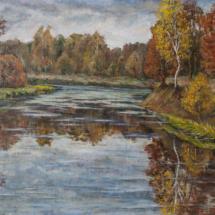 Пейзаж Осень на Боевке, х.м.70х50,1994 год.